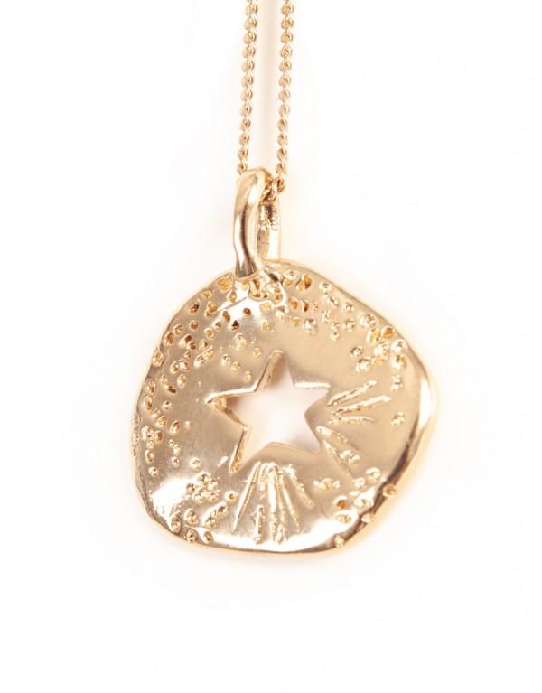 Collier médaille étoile