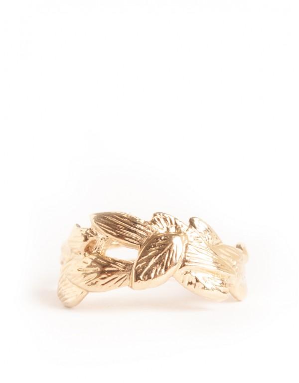 Bague couronne feuilles